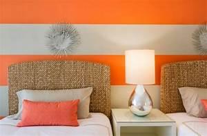 Papier Peint Chambre Adulte Tendance : peinture chambre tendance osez les rayures larges ~ Preciouscoupons.com Idées de Décoration