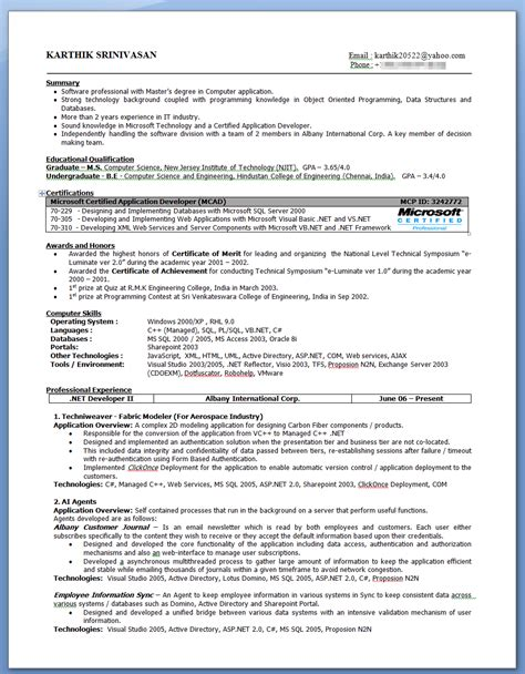 karthik s evolution of my resume karthik srinivasan