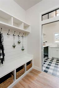 Farmhouse Mudroom Laundry Room