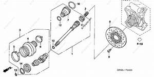 Honda Atv 2006 Oem Parts Diagram For Propeller Shaft