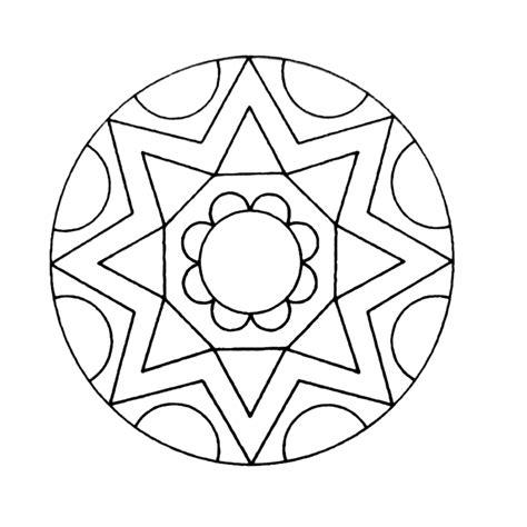 Kleurplaat Mandala Kleuters by Leuk Voor Mandala 0030