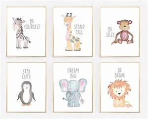 Kuscheldecke Animal Print : watercolor baby animal nursery prints barnrum bebis och bebisrum ~ Whattoseeinmadrid.com Haus und Dekorationen