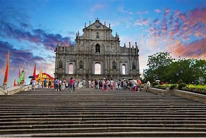 Macau Paul Ruins St China Ruin Landmarks