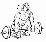 Lifting Weight Coloring Sports Coloringcrew sketch template