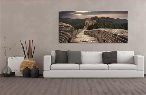 decor chambre muraille de chine un tableau panoramique dans votre salon