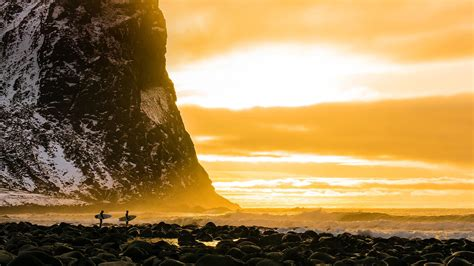 Lofoten Surfing Bing Wallpaper Download
