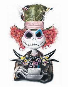 Jack Alice : nightmare before christmas alice in wonderland tim burton surreal world cartoon crossover ~ Frokenaadalensverden.com Haus und Dekorationen