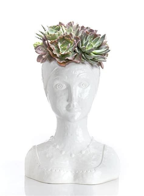 female bust planters  succulents sfgate
