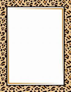 Border featuring a leopard print design. Free GIF, JPG ...