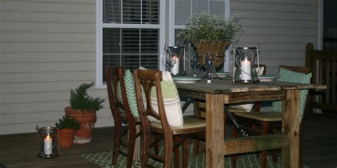 remodelaholic   build  rustic outdoor dining table