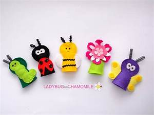 felt forest animals and items custom order felt finger With bee finger puppet template
