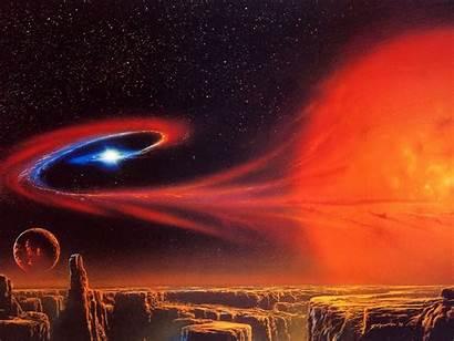 Sci Space Fi Planet Landscape Planetscape Artwork