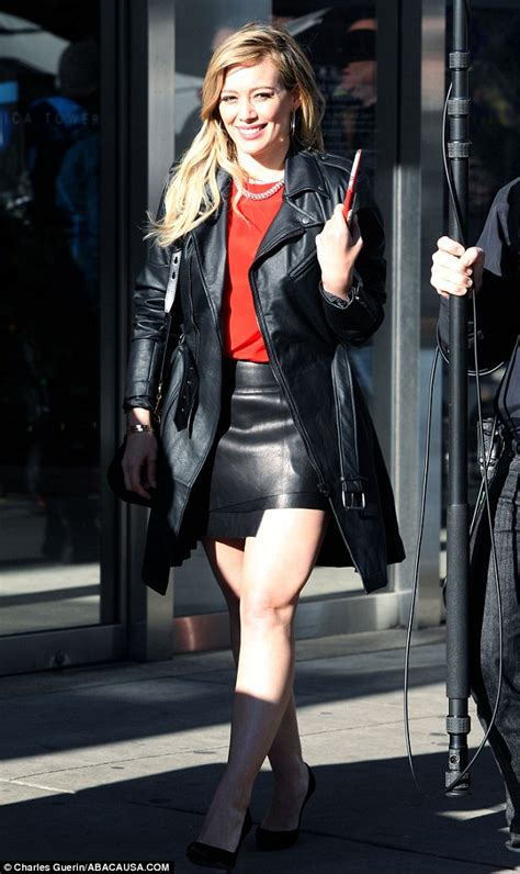 s grey zip up hoodie hilary duff covers chic leather for warm grey