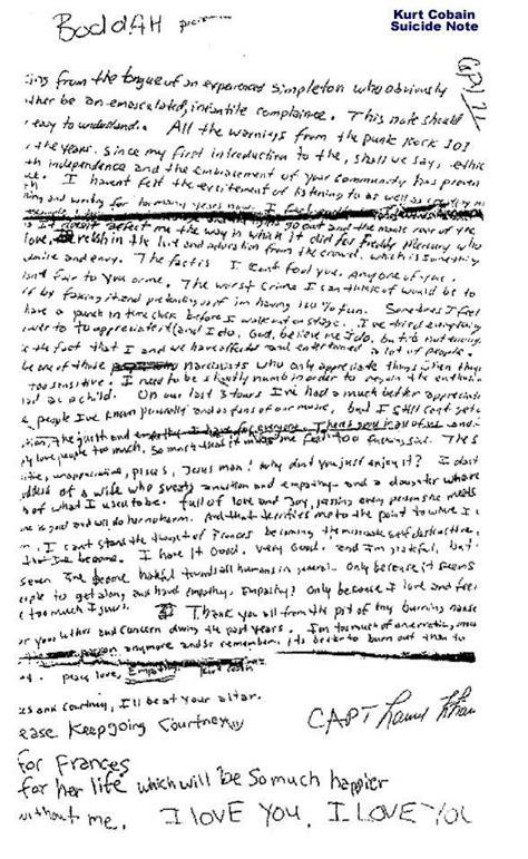 kurt cobain letter 28 best kurt cobain research etc images on 31427