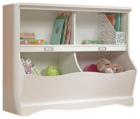 bookcase and toy storage sauder pogo bookcase footboard soft white finish