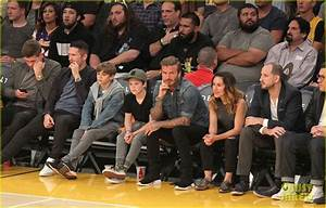 David Beckham Sits Courtside with Romeo & Cruz!: Photo ...