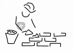 Bilder Hausbau Comic : maurer bauarbeiter hausbau mauer grafik illustration als poster und kunstdruck von lineamentum ~ Markanthonyermac.com Haus und Dekorationen
