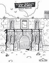 Coloring Alamo Church Texas Lds Printable Easter Sheets Alphabet Flag sketch template
