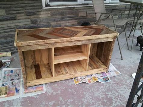 diy pallet media console  tv stand pallets