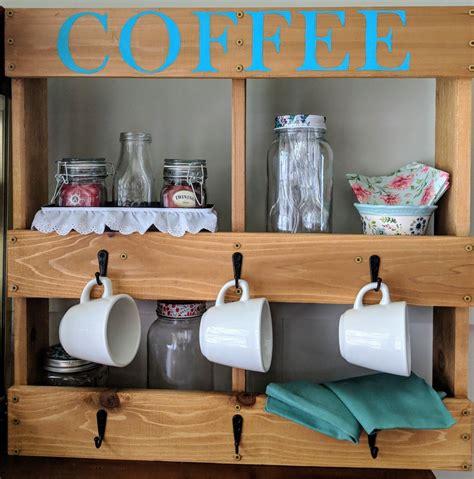 November 2, 2018 posted by : Coffee cup holder, coffee mug holder, coffee cup rack, mug rack diy, kitchen decor, coffee mug ...