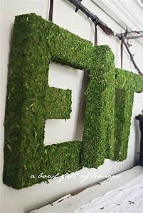 how to create pottery barn moss letters a bowl full of With moss letters