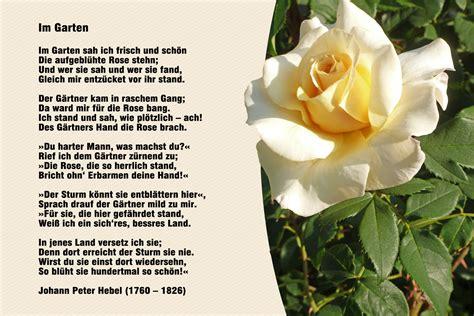 Der Garten Gedicht by Blumen 171 Meine Internetseite