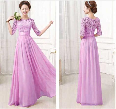 long dress ungu elegant import  jual model terbaru