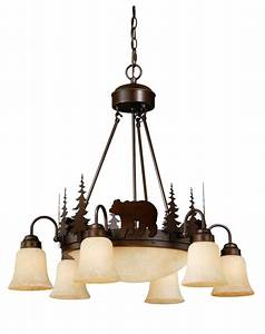 Bear vaxcel yellowstone rustic country chandelier bozeman
