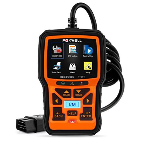 check engine light diagnostic tool foxwell nt301 car obd2 code scanner universal check engine