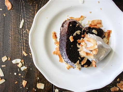 chocolate coconut pound cake  whipped cinnamon coconut