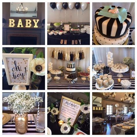 Black And Gold Baby Shower by Black And White Baby Shower 14 Hudson Piermont Ny