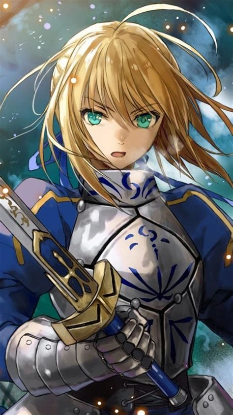 armor saber anime girls swords fate series wallpaper
