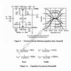 Passive Baxandall Tone Control  2 Band Equalizer