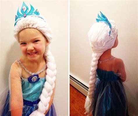 mom  disney princess wigs  kids  cancer