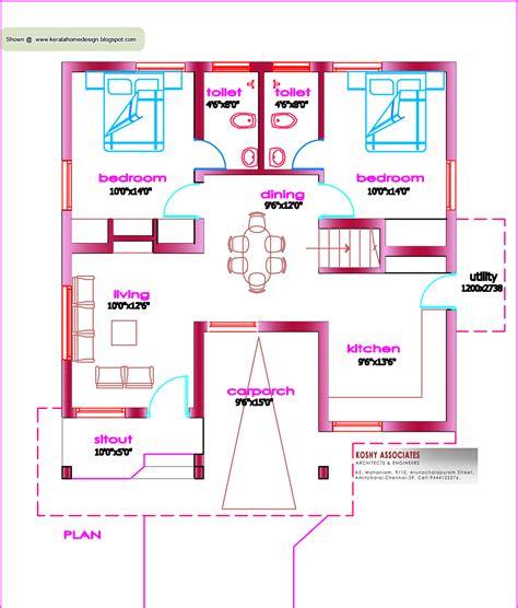 single floor house plan  sq ft kerala home design  floor plans