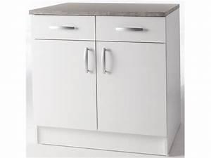 Meuble Bas Porte : meubles de cuisine meuble bas paprika blanc 80 cm 2 ~ Edinachiropracticcenter.com Idées de Décoration