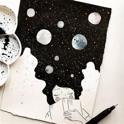Draw Easy Cool 55 Sketchbook Drawings Space