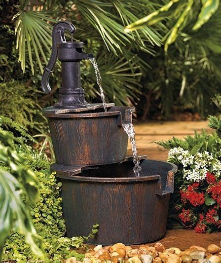 New 2 Tier Cascading Old Fashioned Water Pump Barrels