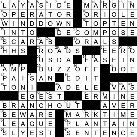 diagrammed crossword clue archives