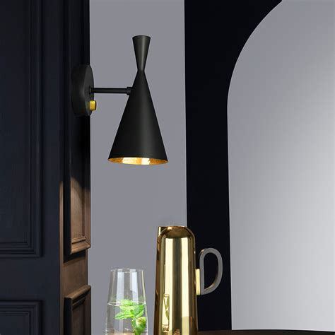 tom dixon beat wall light with rotary dimmer switch