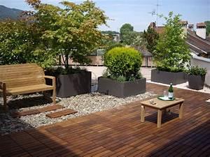 terrassengestaltung alles aus einer hand bacher garten With französischer balkon mit garten holzplatten