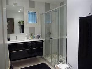 Exemple Petite Salle De Bain : modele salle de bain avec douche italienne soin en image ~ Dailycaller-alerts.com Idées de Décoration