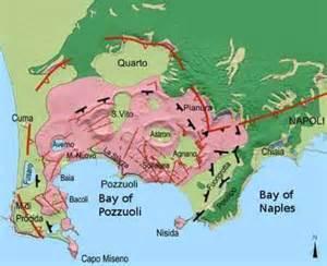 Volcano Naples Italy Map