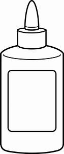 Glue Bottle Coloring Page - Free Clip Art