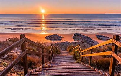Sunset Portugal Desktop Wallpapers Mar Playa Nature