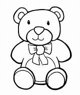 Coloring Bear Toys Toy Pages Stuffed sketch template