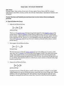 Study Guide Nuclear Chemistry
