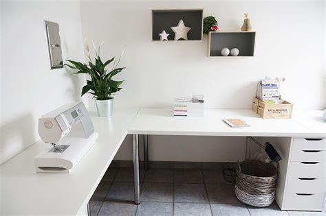 Minimalist Corner Desk Setup Ikea Linnmon Desk Top With