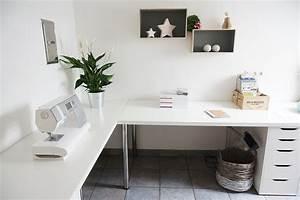 Ikea Tischplatte Linnmon : minimalist corner desk setup ikea linnmon desk top with adils legs and alex favorite decor ~ Eleganceandgraceweddings.com Haus und Dekorationen