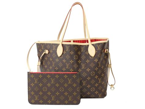 auth louis vuitton neverfull mm tote bag handbag monogram